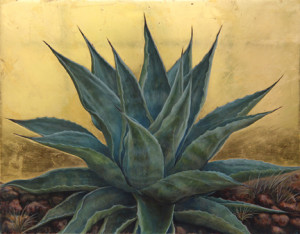 Margie Crisp Gilded Agave No. 2 image courtesy the artist and William Reaves Fine Art