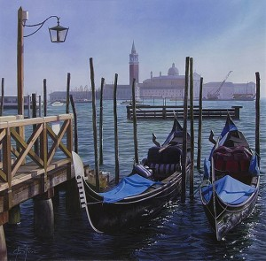 Marc Esteve Venice Harbor image courtesy the artist and Greenhouse Fine Art